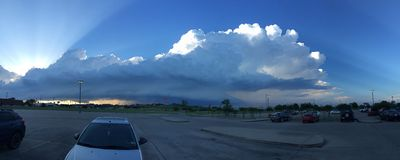 Эффектные облака Стоковые Фотографии RF