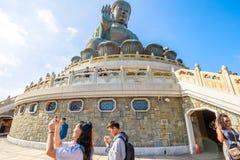 Эффектный большой Будда Стоковые Фотографии RF