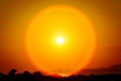 эффектный заход солнца Стоковое Изображение RF