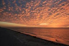 эффектный заход солнца Стоковые Фотографии RF