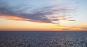 эффектный заход солнца Стоковое Изображение