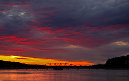 эффектный заход солнца Стоковые Фото