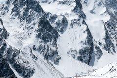 Эффектный пейзаж зимы австрийского лыжного курорта Стоковые Изображения