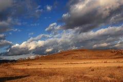 Эффектный пейзаж злаковика Внутренней Монголии Стоковое Фото