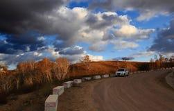 Эффектный пейзаж злаковика Внутренней Монголии Стоковые Фотографии RF