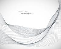 Элегантная абстрактная линия футуристический шаблон волны вектора предпосылки стиля стоковое изображение