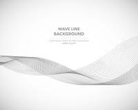 Элегантная абстрактная линия футуристический шаблон волны вектора предпосылки стиля стоковое фото