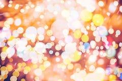 Элегантная абстрактная предпосылка с светами и звездами bokeh Стоковое фото RF