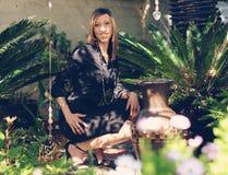 Элегантная Афро-американская женщина Стоковые Изображения RF