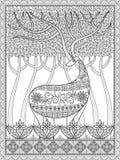 Элегантная взрослая страница расцветки иллюстрация штока