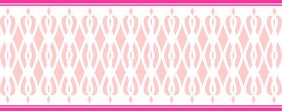 Элегантная декоративная граница составила нескольких розовых цветов Стоковые Фото