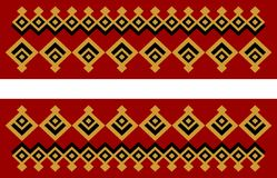 Элегантная декоративная граница составленная квадратное золотого Стоковые Фото