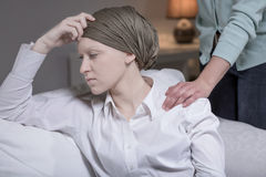 Элегантная женщина имея рак молочной железы Стоковые Фотографии RF