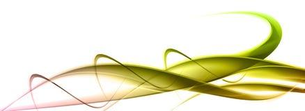 Элегантная зеленая абстрактная предпосылка Стоковое Изображение RF