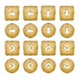Элегантная золотая сеть вектора застегивает стрелки Стоковое Изображение