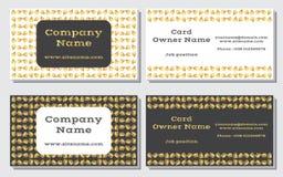 Элегантная и современная визитная карточка Уточненный дизайн Цвета красивого сочетания из золота, желтого цвета, белых и серых Стоковое фото RF