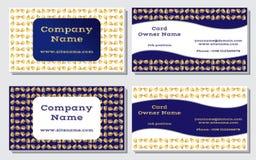 Элегантная и современная визитная карточка Уточненный дизайн Красивые золото сочетания из, желтый цвет, белое и богачи, темносини Стоковые Фотографии RF