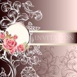 Элегантная карточка приглашения свадьбы в пастельных тонах бесплатная иллюстрация