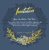 Элегантная карточка приглашения с абстрактной флористической предпосылкой Стоковое фото RF