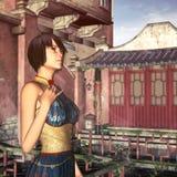 Элегантная китайская дама Стоковая Фотография
