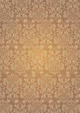 Элегантная коричневая предпосылка обоев картины цветков текстурированная Стоковое Изображение
