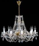 Элегантная кристаллическая люстра strass с 10 лампами Стоковые Фото