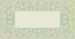 Элегантная классическая рамка с винтажным орнаментом Стоковое фото RF