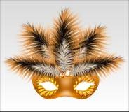Элегантная маска масленицы с красивыми пер Стоковые Изображения RF