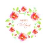 Элегантная поздравительная открытка для с Рождеством Христовым Стоковые Изображения