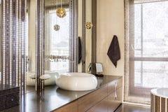 Элегантная причудливая ванная комната Стоковые Изображения
