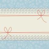 Элегантная рамка шнурка с красивыми розами Стоковое Изображение RF