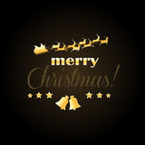 Элегантная рождественская открытка Стоковое Фото