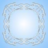 Элегантная роскошная винтажная рамка каллиграфии Стоковая Фотография