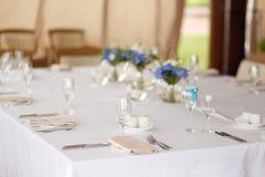 Элегантная таблица свадьбы Стоковая Фотография RF