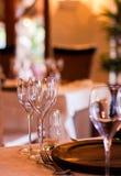 Элегантная установка ресторана Стоковое Изображение RF