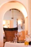 Элегантная установка ресторана Стоковая Фотография