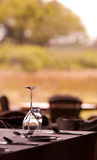 Элегантная установка ресторана Стоковое Фото
