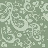 Элегантная флористическая винтажная безшовная предпосылка картины Стоковая Фотография