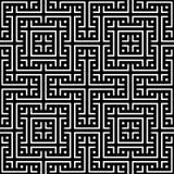 Элегантная черно-белая картина вектора, геометрическая квадратная плитка Стоковая Фотография