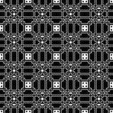 Элегантная черно-белая картина вектора, геометрическая квадратная плитка Стоковое Изображение