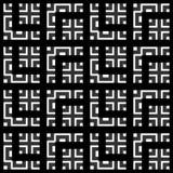 Элегантная черно-белая картина вектора, геометрические квадратные плитки Стоковое фото RF