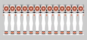 Элегантная, эффектная и декоративная граница индусской и арабской воодушевленности различных цветов, белизны, черноты и апельсина Стоковые Изображения RF