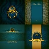 Элегантное золотое знамя рамки Стоковые Фото