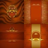 Элегантное золотое знамя рамки Стоковая Фотография