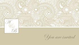 Элегантное приглашение свадьбы Стоковое Изображение RF