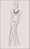 Элегантное платье Стоковые Изображения RF