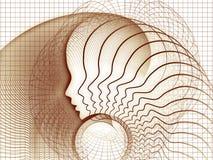 Элегантность геометрии души иллюстрация вектора