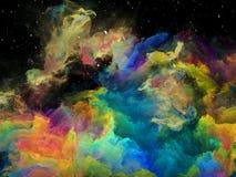 Элегантность межзвёздного облака космоса иллюстрация штока