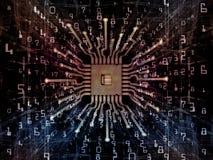 Элегантность процессора цифров иллюстрация штока