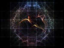 Элегантность решетки частицы иллюстрация штока